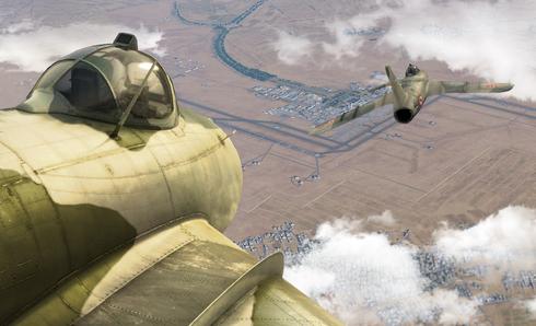 מטוסי מיג 17 בצבעי חיל האוויר הסורי, צילום: DCS