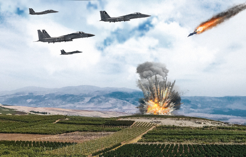 """מיגים סוריים מול F15 ישראלים? לא כוחות. אילוסטרציה, צילום: Wikimedia + דובר צה""""ל"""