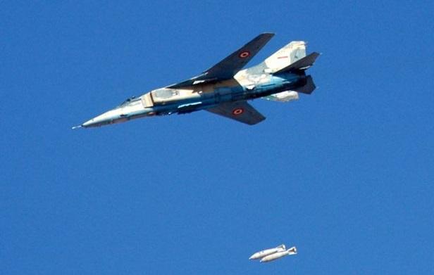 מיג 23 מטיל פצצות, צילום: אתר משרד הביטחון הסורי