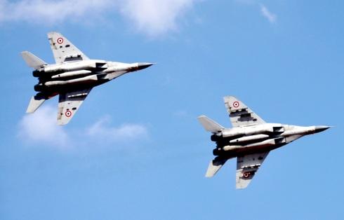 מטוסי מיג 29 סוריים במפגן אווירי, צילום: אתר משרד הביטחון הסורי