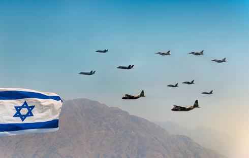 """מטוסי F35, F16, M346 והרקולסים של צה""""ל, צילום: משאטרסטוק"""