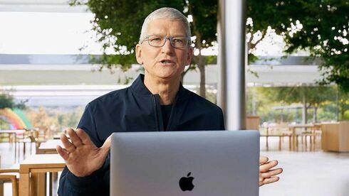 """טים קוק, מנכ""""ל אפל, צילום: AFP"""