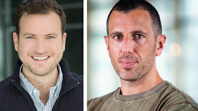 מימין: איתן רייסל מייסד ושותף מנהל VGames, ואיזי וידרה מייסד ושותף מנהל קרן Remagine Ventures,