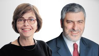"""מימין: מנכ""""ל בנק הפועלים דב קוטלר והממונה על התחרות מיכל הלפרין, צילומים: גדי דגון, שלו שלום"""