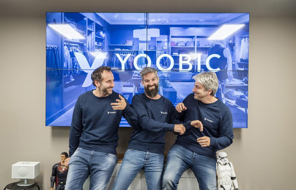 מייסדי יוביק Yoobic מימין אבי חייט פבריס חייט ו ג'יל חייט