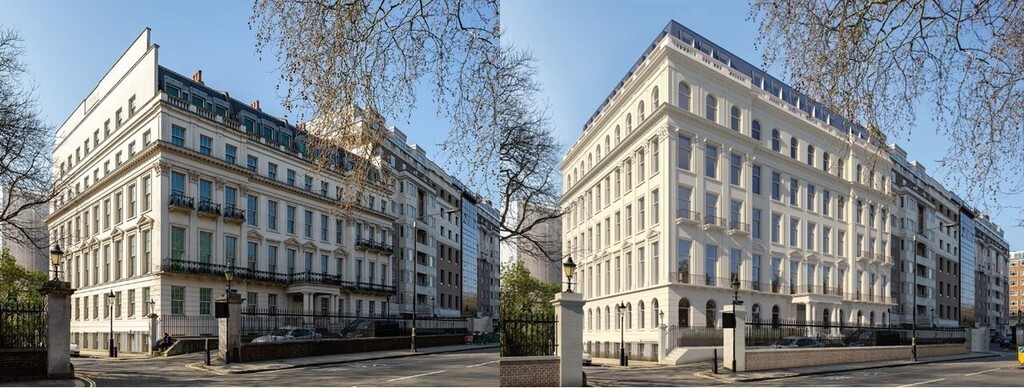 לפני ואחרי השיפוץ בית שקנה מיליארדר סיני Cheung Chung-kiu נייטסברידג' לונדון