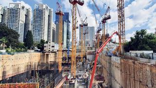 אתר בנייה יונייטד שרונה, צילום: אוראל כהן
