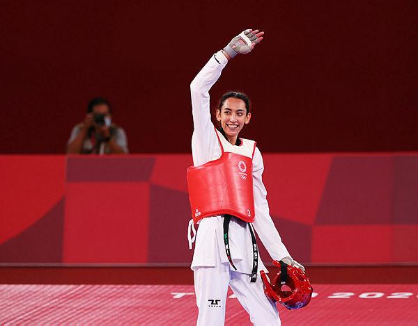 ימיה עליזאדה לאחר הזכייה, אולמפיאדת טוקיו, MURAD SEZER, REUTERS