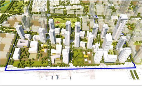 """הדמיית שכונת המגורים במקום שדה התעופה בהרצליה, רמ""""י"""