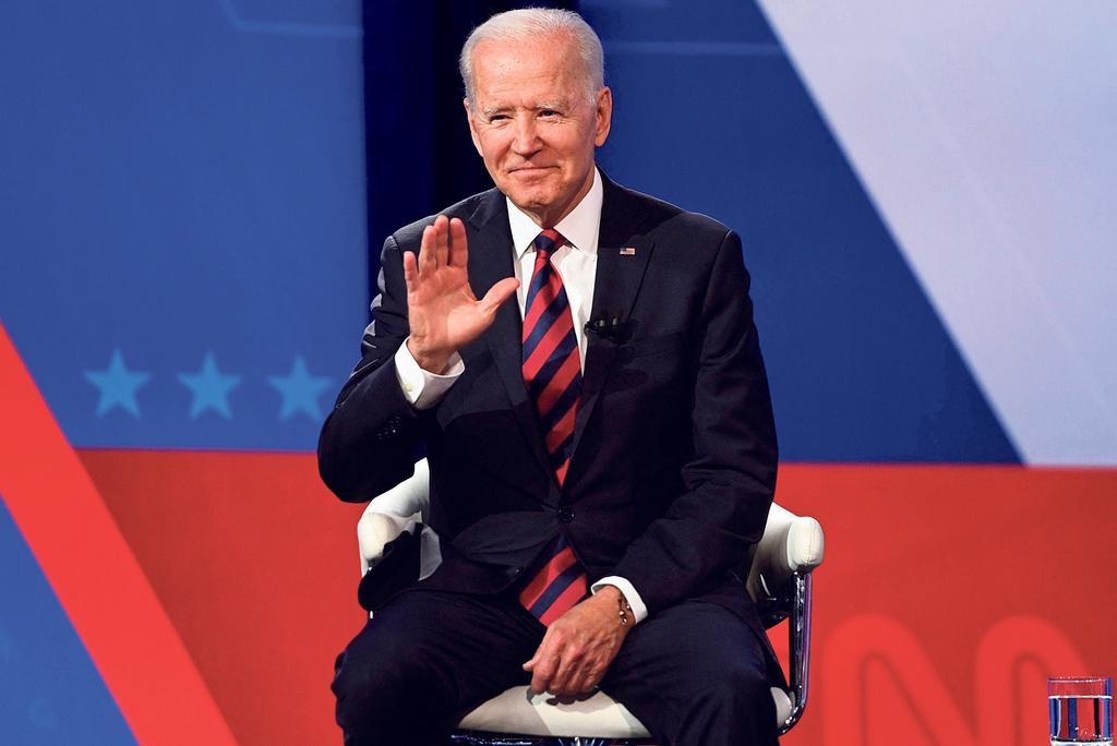 """נשיא ארה""""ב ג'ו ביידן באוהיו יולי 2021"""