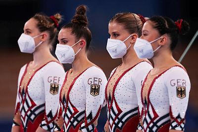 אולימפיאדה  טוקיו נבחרת הנשים בהתעמלות מגרמניה