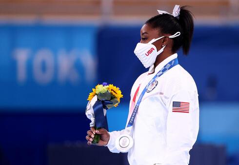 סימון ביילס. לאחר שפרשה מהאולימפיאדה בטוקיו, צילום: רויטרס