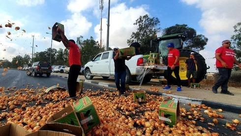 """חקלאים חוסמים צמתים במחאה על רפורמת היבוא: """"המשקים המקומיים ייסגרו"""""""