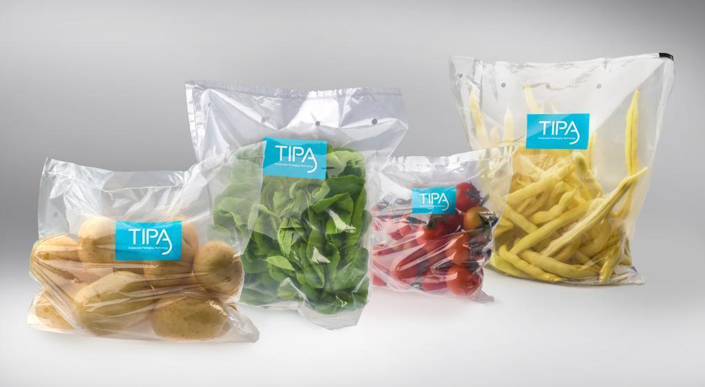 מזון באריזה מתכלה חברת סטארט-אפ טיפה TIPA
