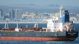 הספינה MERCER STREET שהפעילה חברה ישראלית של אייל עופר הותקפה ליד עומאן, Johan Victor מתוך marinetraffic.com)