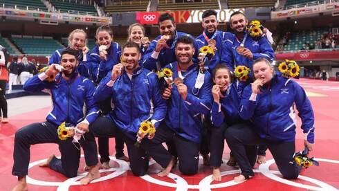 נבחרת הג'ודו של ישראל ניצחה את רוסיה - וזכתה בארד הקבוצתי