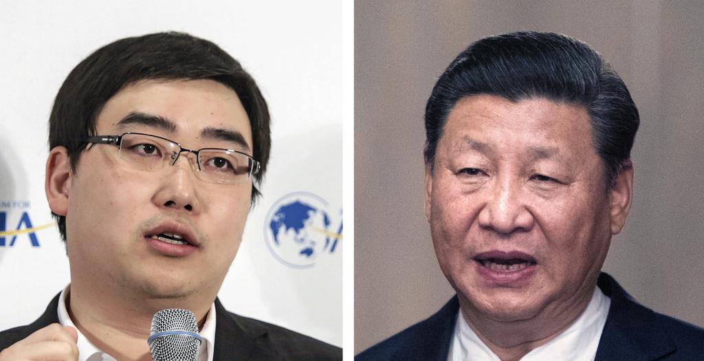 """מימין נשיא סין שי ג'ינפינג ומנכ""""ל דידי ויי צ'נג"""