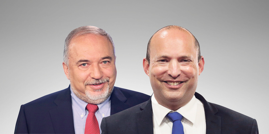 מימין ראש הממשלה נפתלי בנט ושר האוצר אביגדור ליברמן 1