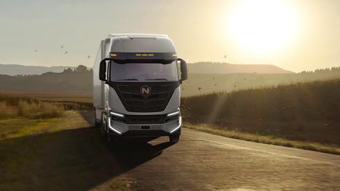 משאית ניקולה, נותרה במצגת, צילום: Nikola Motors