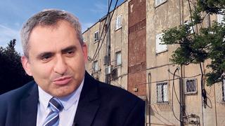 שר השיכון והבינוי זאב אלקין בנייני מגורים בתל אביב, צילום: קובי קואנקס, אוראל כהן