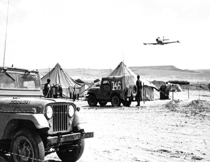 """אוראגן מעל מאהל מדברי של צה""""ל, צילום: אתר חיל האוויר"""
