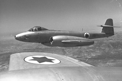 """נחות ממטוסי האויב. מטוס המטאור של צה""""ל, צילום: אתר חיל האוויר"""