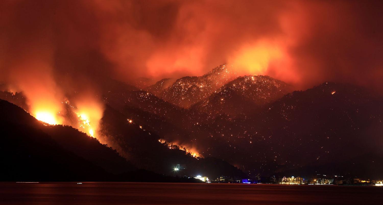 פוטו משבר האקלים שריפות טורקיה מרמריס