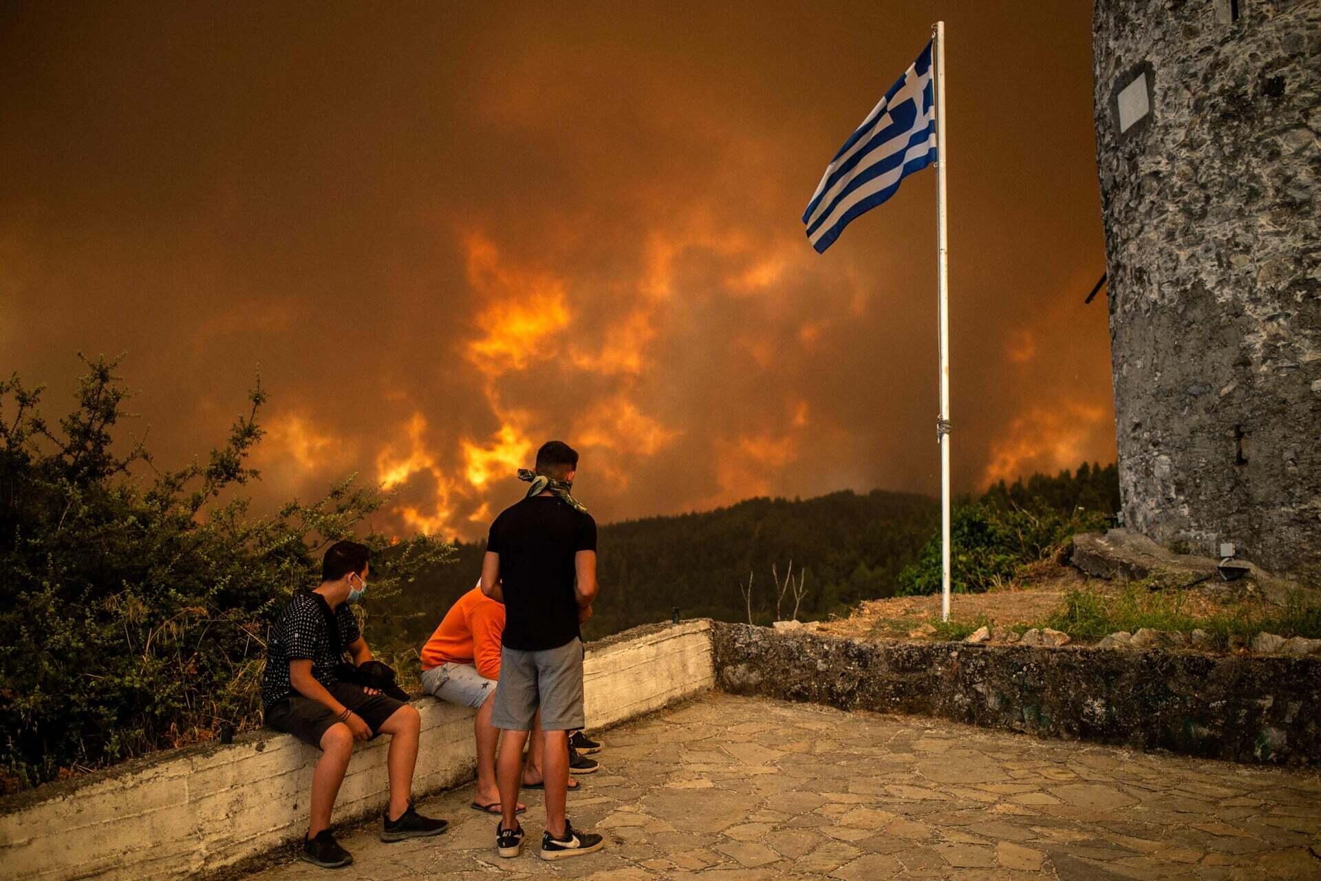 פוטו משבר האקלים שריפות יוון