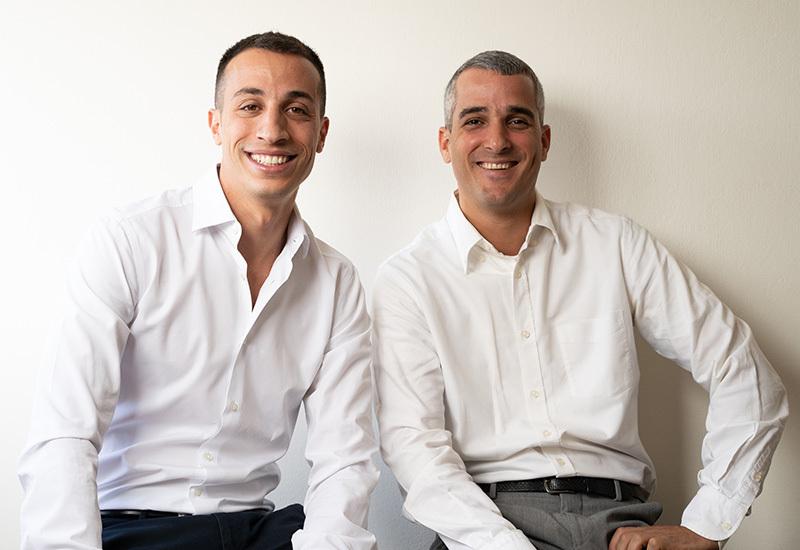 עומר גבאי (מימין) ויונתן ישראל, מראשי חברת יתד