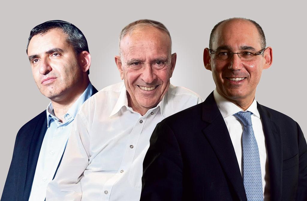 מימין נגיד בנק ישראל אמיר ירון הסטטיסטיקאי הראשי פרופ' דני פפרמן ו זאב אלקין