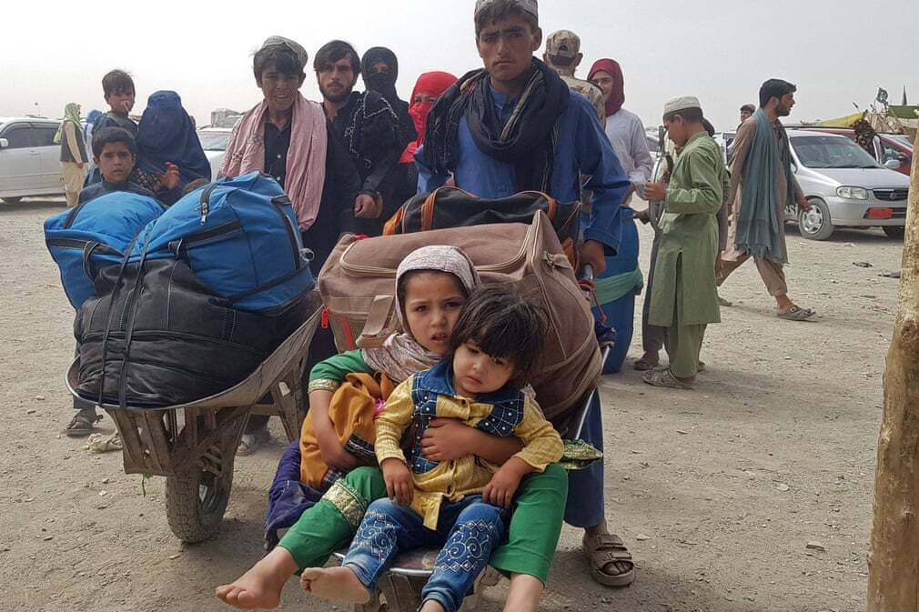 פוטו אפגניסטן טאליבן  פליטים גבול פקיסטן
