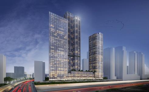 הדמיית משולש הבורסה, פרויקט של דירה להשכיר ישראל קנדה ובסר, הדמיה: ישר אדריכלים
