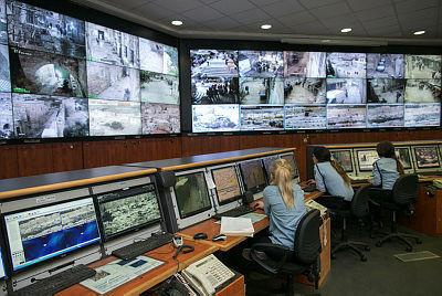 מרכז שליטה ב תחנת משטרה