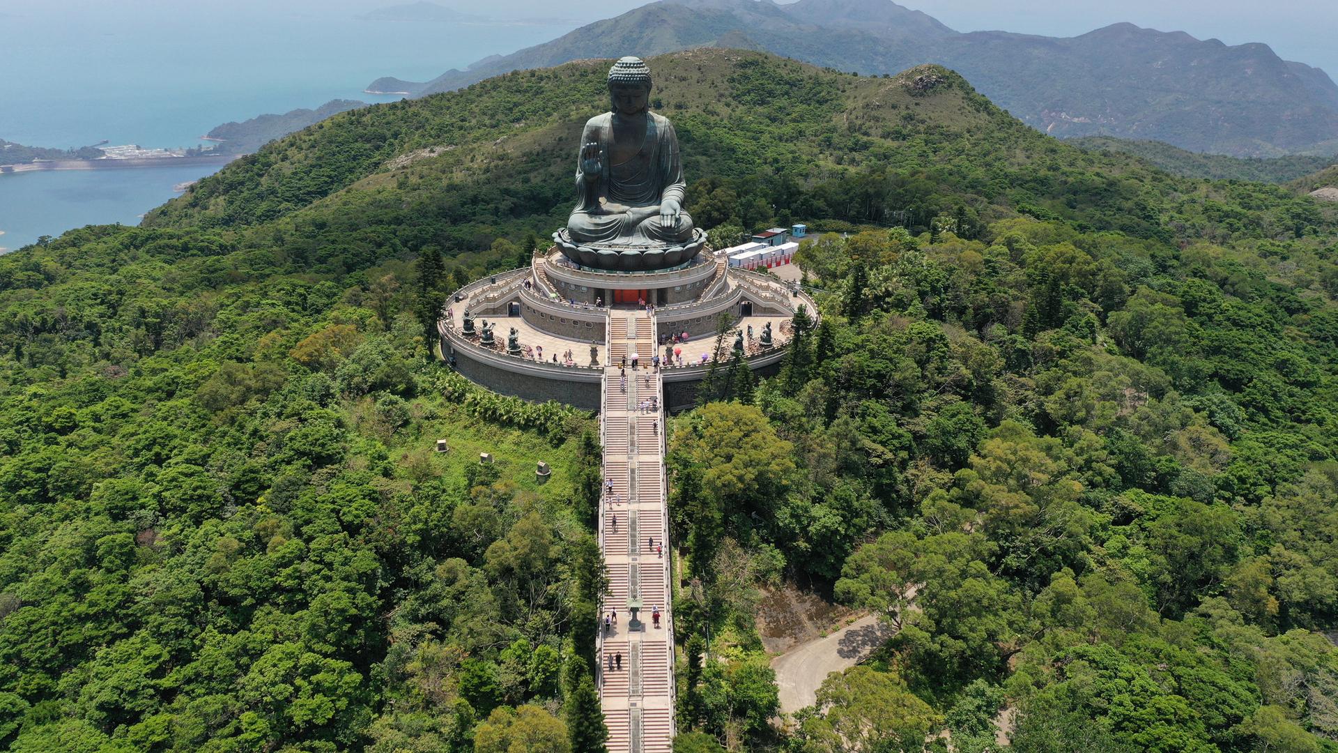 פוטו מקומות שחייבים להיות בהם פסל בודהא הונג קונג