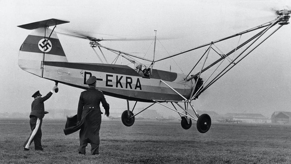 הליקופטר Focke-Wulf Fw 61 V 2 D-EKRA הקברניט
