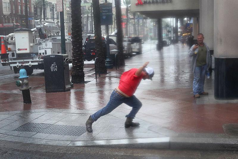 Hurricane Strong Storm Ida Ida USA New Orleans