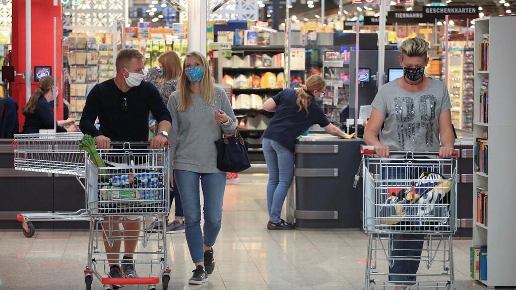 סופרמרקט גרמניה יורו אינפלציה קניות