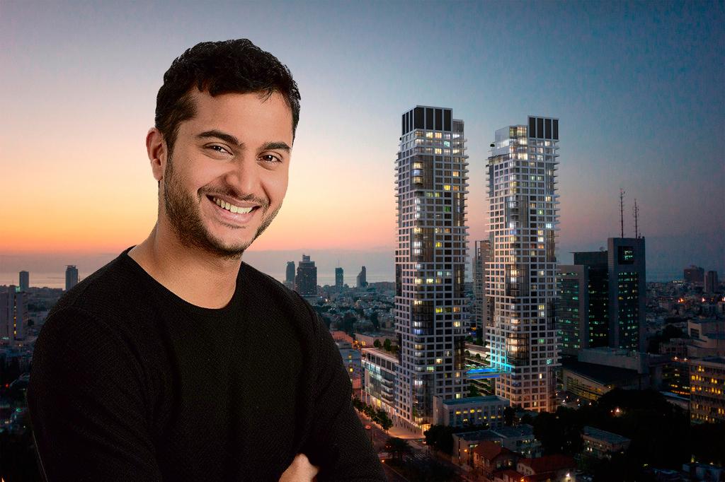 אמיר נחמיה על רקע פרויקט דה וינצ'י בתל אביב