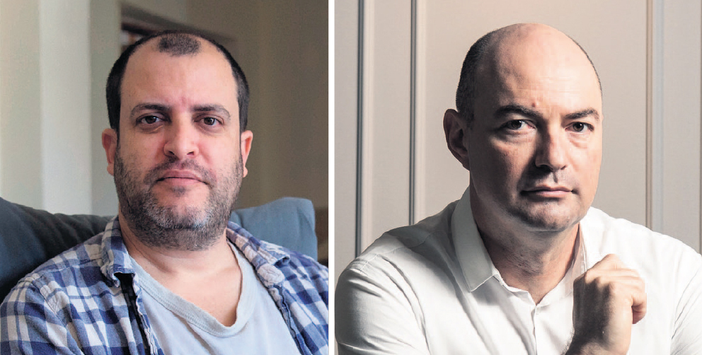 מימין: ראש מערך הסייבר יגאל אונא אקר נעם רותם
