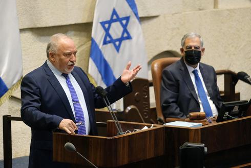 שר האוצר אביגדור ליברמן במליאת הכנסת , צילום: יואב דודקביץ