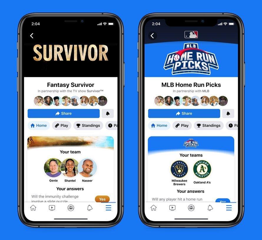 משחק הספורט החדש של פייסבוק