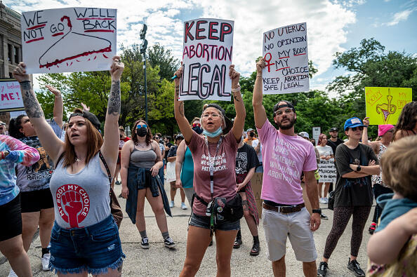 Demonstration Against Abortion Prohibition in Texas USA May 2021