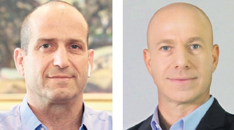 """מימין: מנהל מועדון אשמורת ארי שטיינברג ומנכ""""ל ישראכרט הנכנס רן עוז"""