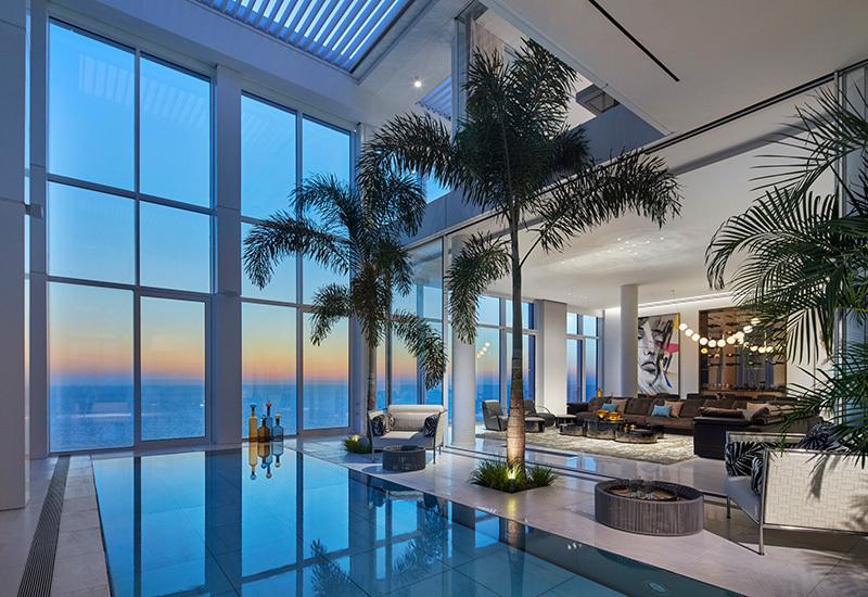 הפנטהאוז בפרויקט בריגה טאוורס בנתניה. זוכה פרס המצוינות בבנייה למבנים מעל 10 קומות