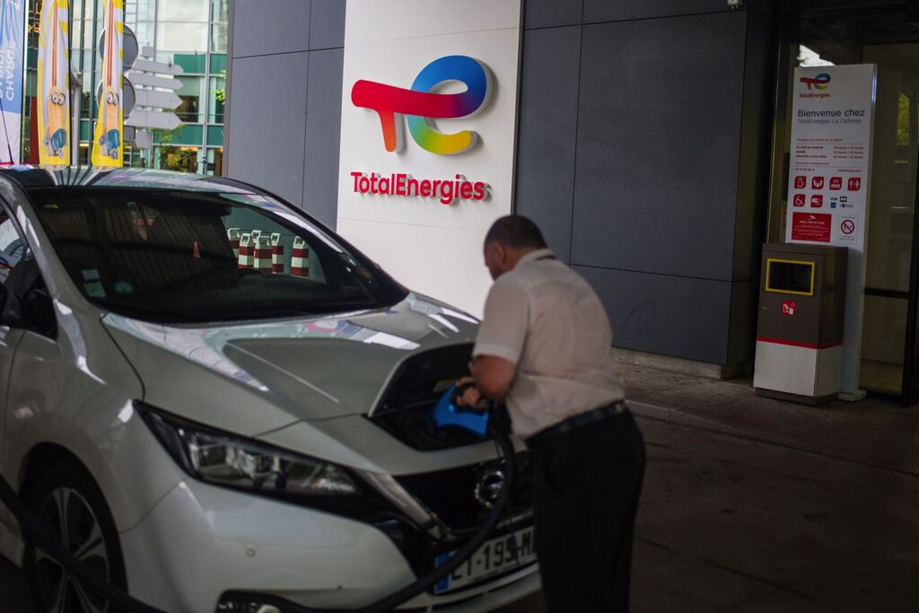 TotalEnergies electric charging station in Paris