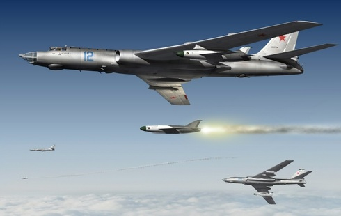 מפציצי טופולב 16 משגרים טילי שיוט, צילום: topwar