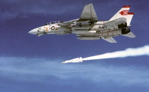 גדול וקטלני: F14 אמריקאי משגר טיל פניקס, צילום: NARA