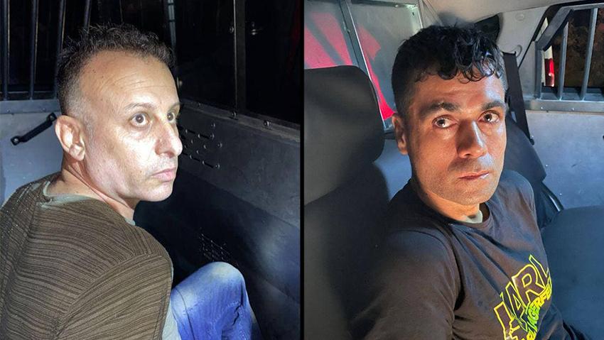 שניים מהמחבלים שברחו מ כלא גלבוע ונתפסו ב הר הקפיצה