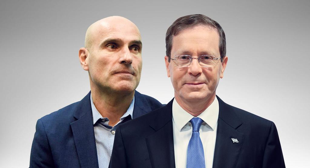 מימין נשיא המדינה יצחק הרצוג ו אפי נוה