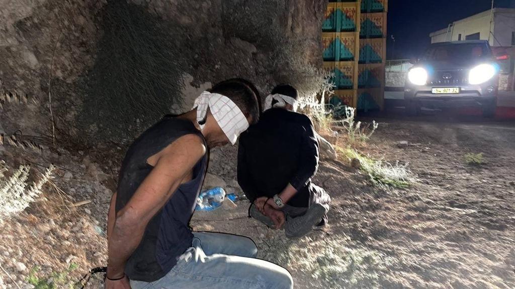 בחניון משאיות באום אל גאנם. זכריה זביידי ו קאסם עארדה מחבלים נמלטים כלא גלבוע נלכדו